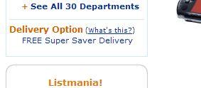 FREE Super Saver Delivery