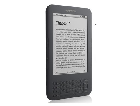 Vista frontal amazon Kindle